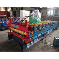 高配导柱耐磨液压剪双层屋面瓦成型机设备地鑫供应优质双层压瓦机