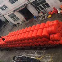 杂物隔离拦截浮排 内河警戒围栏塑料浮栏产品介绍