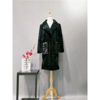 高端品牌欧莎玛卡羊驼绒大衣折扣走份批发 一手货源走份