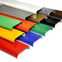 铝合金门头金属广告牌 德普龙品牌厂家供应条形门头铝扣板85面