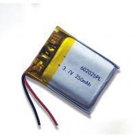 厂家直销可充电锂电池蓝牙手表智能手表音响电池3.7V 250mAh