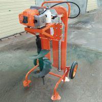 大马力拖拉机挖坑机 宇佳硬土质挖坑机参数 螺旋深坑打洞钻眼机