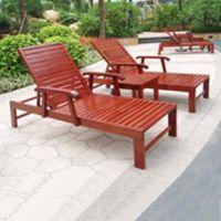 栖尔实木可折叠沙滩椅 多功能躺椅 扶手折叠木质沙滩椅躺床户外实木椅