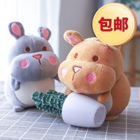 包邮新款8寸仓鼠毛绒玩具精品抓机娃娃软体仓鼠儿童玩偶批发