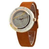 Gezfeel品牌时尚天然大理石表石英防水男士手表真皮表带手表定制