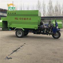 饲料机械撒料车 移动方便的投料车 柴油动力牛羊驴喂料机