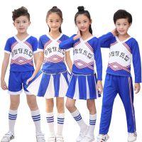 儿童啦啦操演出服小学生健美操体操舞蹈服男女童啦啦队表演服装幼