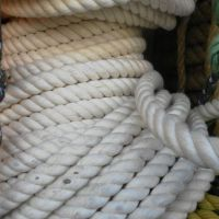 供应直径18毫米三股白色棉纱打包绳
