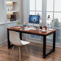 写字台洽谈桌主管桌书桌大气多人桌培训班长条形黑胡桃色电脑桌