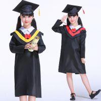 成人儿童博士服演出舞蹈服装大学男女毕业礼服博士帽幼儿园摄影服