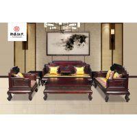 实木客厅古典酸枝木沙发-红木家具-黑酸枝宝座沙发11件套组合-国标红木