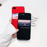 ins简约文艺插画iPhonex手机壳磨砂全包硬壳苹果6s/7plus个性创意