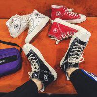 秋季男鞋韩版潮流学生高帮鞋透气百搭中邦帆布鞋潮男板鞋小白鞋男