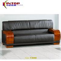 厂家直销办公家具 商务接待真皮沙发组合  现代简约会客办公沙发