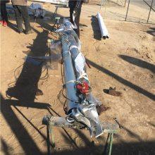 嘉鹏立10米电线杆抱杆价格 120*4铝合金管立杆机 三河北角立杆机厂家
