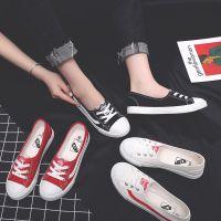 春夏季单鞋帆布鞋女鞋子韩版潮学生休闲懒人鞋套脚平底一脚蹬