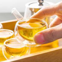 高硼硅耐高温双层玻璃杯耐热玻璃小茶杯子功夫茶具50ml品茗杯隔热