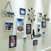 jdy韩式装饰品婚纱照公司办公室浪漫挂墙照片墙墙贴墙贴美式木质
