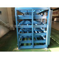 天津钢板货架生产 片材存放架 抽屉式板材货架图片