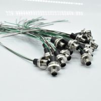 M12传感器公母胶芯大量现货可包胶注塑成型线束加工