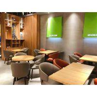 上海西餐厅实木桌椅、西餐厅四人桌椅、西餐厅长木桌椅定制 韩尔现代定制品牌