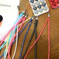韩国时尚糖果色水晶水钻手机壳挂绳挂脖挂件饰品配件创意潮女挂饰