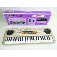 儿童仿真49键电子琴 多功能插电麦克风音乐钢琴乐器玩具批发