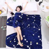 夏季法兰绒空调毯 学生单人宿舍薄毯子 双人床单单层毛毯珊