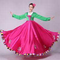 新款朝鲜族演出服大长今舞蹈服装传统韩服民族大摆裙表演服开场舞