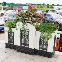 朗汀春季特惠促销 市政道路景观花箱优惠 方形雕花艺术花箱