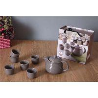 济南现货供应陶瓷促销茶具7件套 1壶6杯套装礼盒