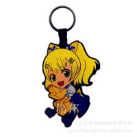 日本原单pvc硅胶钥匙扣挂饰卡通动漫人物手机包包配饰挂件