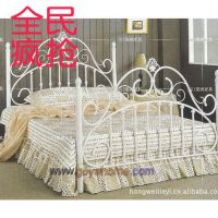 欧式加固型铁艺床1.5米白色铁床1.2米铁架子床双人床1.8米公主床