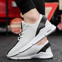 夏季新款透气男鞋子韩版男士低帮休闲运动鞋潮流百搭学生跑步鞋子