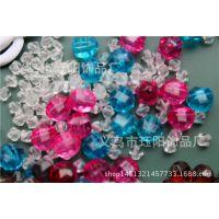 厂家直销水晶珠子散珠 塑料尖珠 树脂珠 地球角珠珠 2-40mm