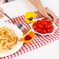 厨房可夹碗盘调味碟餐碟 多用可夹碗盘调料碟沙拉调味盒