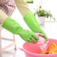 1007 厨房护肤乳胶手套 防水舒适耐用家务清洁洗衣洗碗家居手套