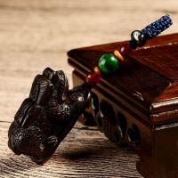 桃木貔貅汽车钥匙扣男士汽车钥匙挂件饰情侣钥匙链圈包邮