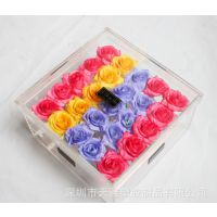 透明鲜花包装盒 定制亚克力鲜花盒