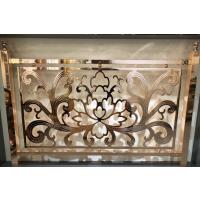 别墅装修纯铜雕刻护栏、铜艺雕花镂空镀金楼梯扶手护栏