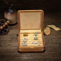 一件代发罗威非洲花梨木紫檀木纯实木男士袖扣女士戒指收纳盒耳钉