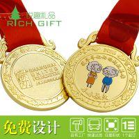 厂家定制儿童比赛小奖牌 小朋友荣誉纪念奖章 好孩子金属挂牌