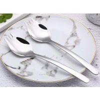 304不锈钢沙拉叉面条一体勺叉、西餐两用叉勺、名瑞餐具厂批发