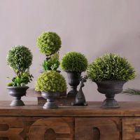 JSH美式乡村仿真植物假盆栽客厅摆件 办公室桌面装饰品绿色植物盆