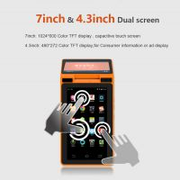 ZKC900手持安卓智能终端 微信支付宝扫码支付双屏显示打印小票