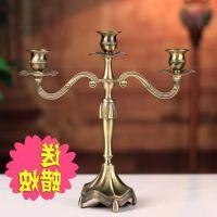 礼品青古铜新古典欧式蜡烛烛台仿复古创意餐桌浪漫装饰品摆件金属