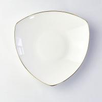 唐山瓷亿美厂家批发陶瓷餐具 创意骨瓷盘子家用8寸饭盘酒店碗盘碟定制logo