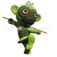 景观雕塑 五色草人物绿雕公园绿地美化 神话动画人物系列主题绿雕