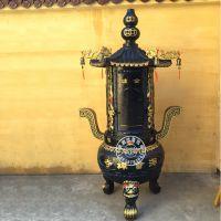 禅相法器现货销售寺庙化宝炉 生铁圆形化纸钱炉价格