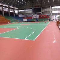 河池市东兰县塑胶篮球场体育馆成功案例——康奇体育制作